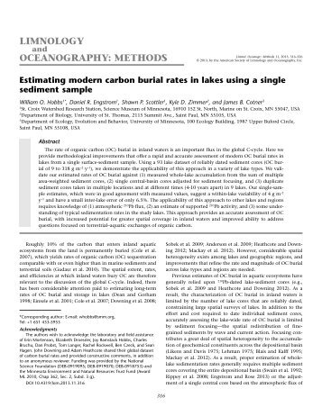 Download Full-text PDF - American Society of Limnology and ...