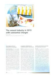 The cernent industry in 2013 with substantial changes - Asocem