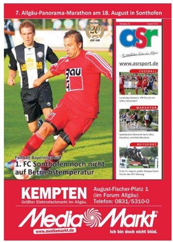 ASR Sport Ausgabe August 2013 - Allgäu Sport Report