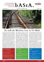 Ihr stellt die Weichen: uni- & VS-Wahl - AStA Universität Mannheim
