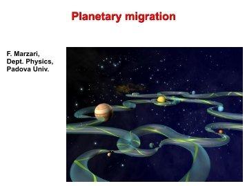 Tidal migration of