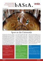 bAStA 141 - AStA Universität Mannheim