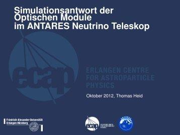 ANTARES Neutrino Teleskop - Astroteilchenschule