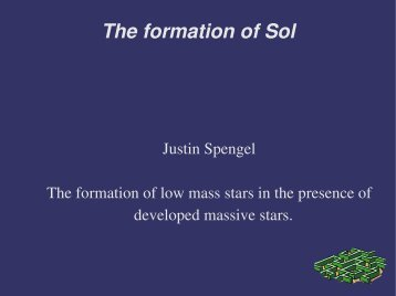 The formation of Sol