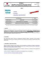 ET 5019 Herrajes y accesorios para líneas aéreas de Baja Tensión ...