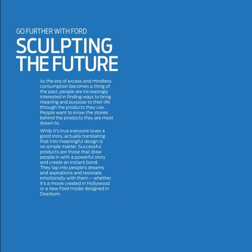 Sculpting the Future Fact Sheet - Ford