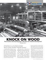 paper mills feed new industrial development - Atlantic Business ...