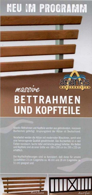 Bettrahmen und Kopfteile - Atlantis Wasserbetten
