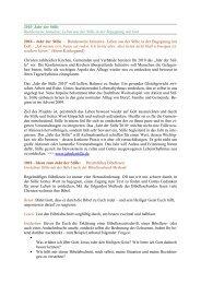 2010 Jahr der Stille Bundesweite Initiative: Leben aus der Stille in ...