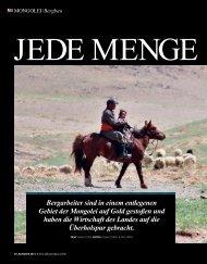 Bergarbeiter sind in einem entlegenen Gebiet der Mongolei auf ...