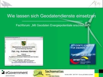Wie lassen sich Geodatendienste einsetzen - Sachsenatlas
