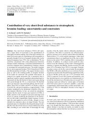 Contribution of very short-lived substances to stratospheric bromine ...