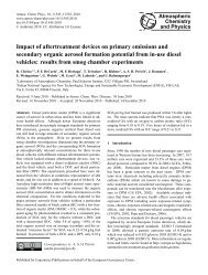 Impact of aftertreatment devices on primary emissions and ...