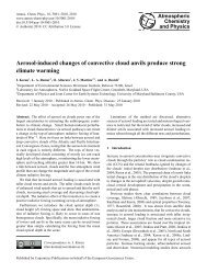 Aerosol-induced changes of convective cloud anvils produce strong ...