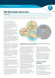 Mid West Radio-Quiet Zone - Australia Telescope National Facility