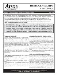 Hydrogen Sulfide ToxFAQ - ATSDR