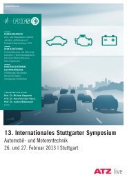 13. Internationales Stuttgarter Symposium - ATZlive
