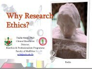 Why Research Ethics, Dr. Arawi - American University of Beirut