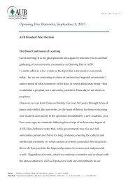 Opening Ceremony (September 9, 2013) - American University of ...