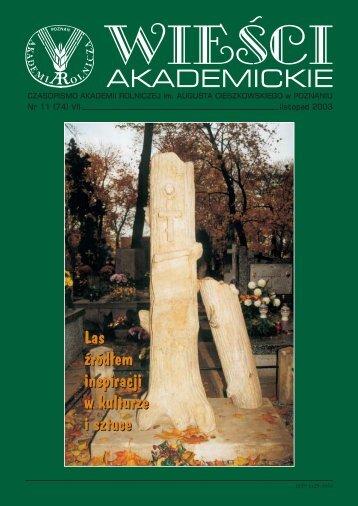 Wiesci Akademickie grudzie/2003