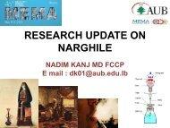 Presentation 2 - American University of Beirut