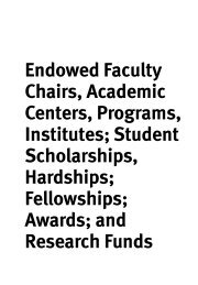 Endowed Faculty Chairs - American University of Beirut