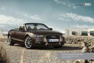 The Audi A5 and S5 Cabriolet Pricing and Specification Guide