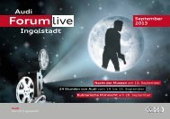 Monatsprogramm des Audi Forum Ingolstadt September 2013