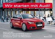 Wir starten mit Audi!
