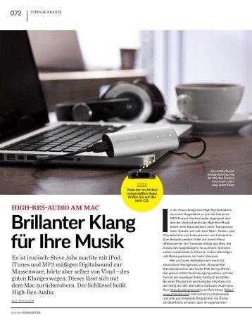 Brillanter Klang für Ihre Musik