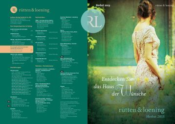 rütten & loening Herbst 2013 - Aufbau Verlag