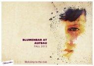 BlumenBar at aufBau Fall 2013 Welcome to the club - Aufbau Verlag