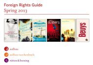 Spring 2013 - Aufbau Verlag