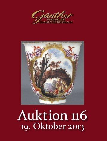 Katalog 116 - Kunstauktionshaus Günther in Dresden