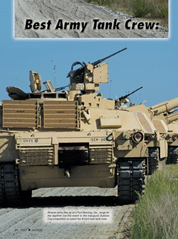 Best Army Tank Crew - Association of the United States Army