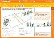 Net - wall game - Continuous tennis - Australian Sports Commission