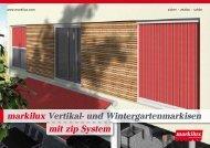 Prospekt markilux Vertikal- und Wintergartenmarkisen (PDF 2.06 MB)