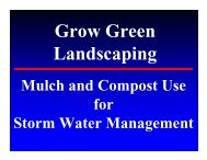Compost Techniques for Stormwater Quality
