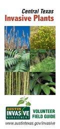 Central Texas Invasive Plants Field Guide - AustinTexas.gov