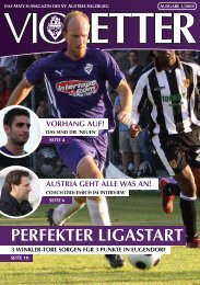 PERFEKTER LIGASTART - SV Austria Salzburg