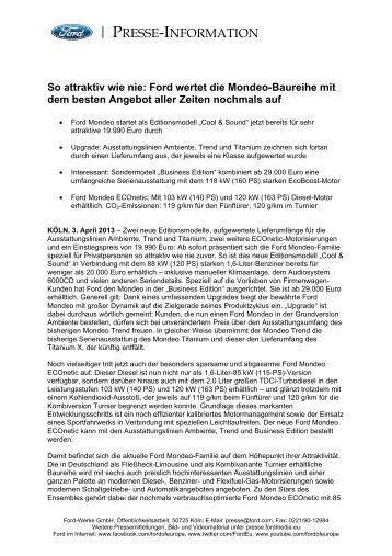 PRESSE-INFORMATION - Autohaus Dietrich GmbH