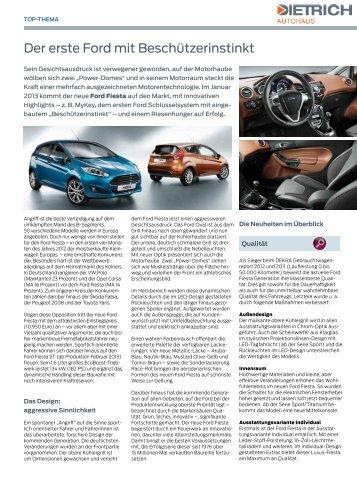 der erste Ford mit Beschützerinstinkt - Autohaus Dietrich GmbH