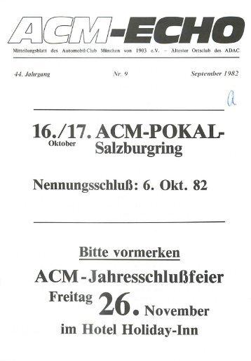 echo-1982-09 - ACM Automobilclub München von 1903 e. V.