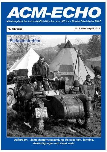 echo-2013-02 - ACM Automobilclub München von 1903 e. V.