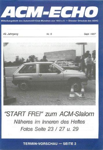 "FREI"" zum ACM-Slalom - ACM Automobilclub München von 1903 e. V."