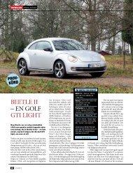 BEETLE II – EN GOLF GTI LIGHT - Auto Motor & Sport