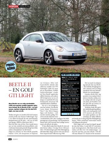 BEETLE II – EN GOLF GTI LIGHT - Auto Motor & Sport