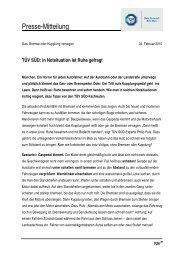 TÜS Süd: Tipps zur richtigen Reaktion auf Notsituationen