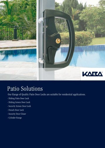 Patio Solutions - AutoSpec