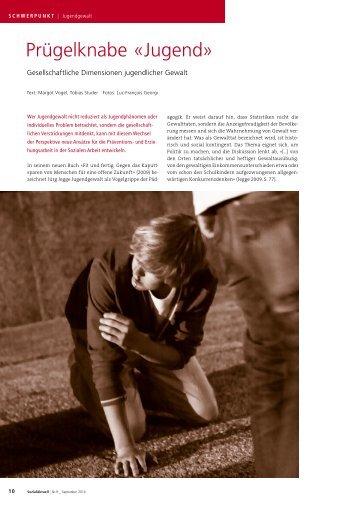 Prügelknabe «Jugend» - AvenirSocial